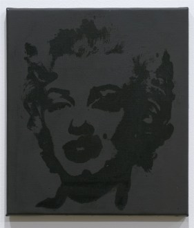 Elaine Sturtevant, Warhol Black Marilyn, 2004, synthetic polymer silkscreen on canvas, 40.5x35.5 cm, signed and dated (ST 3026)