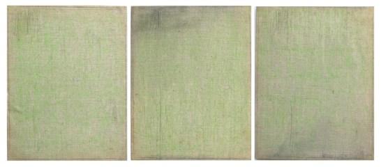 Vincenzo Cecchini, Verde LN, 1975, grafite e olio su tela, 60x50 cm ciascuno Courtesy Primo Marella Gallery