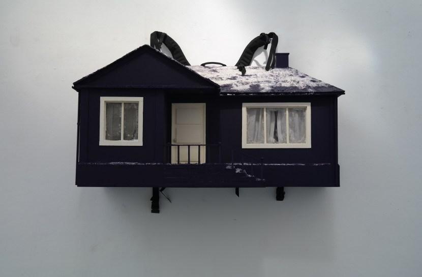 """Matteo Sanna, Close to my skin"""", 2010, 138 x h 75 x p 51 x 31 cm, legno, acrilico, sale, colla, sfere di vetro, plastica, pezzo unico"""