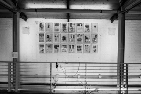 Fabrizio Cotognini, Simulation of Thoughts (Simulazione di pensieri), 2015, matita, inchiostro, biacca, acrilico su libro d'artista di Fabio Mauri, 25 cm x 38,5 cm cad. Courtesy l'artista e Prometeo Gallery di Ida Pisani ph credit Yuma Martellanz