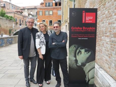 Giuseppe Barbieri, Silvia Burini e Grisha Bruskin a Venezia