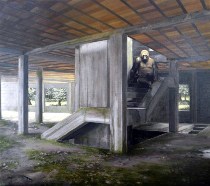 Marco Pace, The King of the Ruins, 2015, olio su tela, 88x79 cm