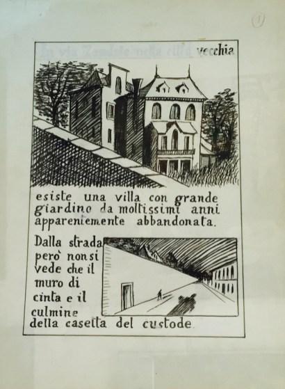 Bozzetto per Poema a Fumetti - Dino Buzzati - fronte