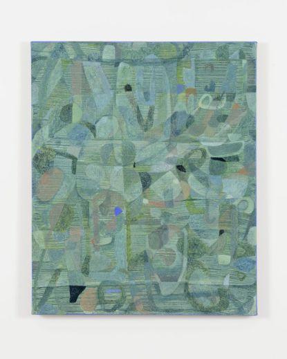 Clare Grill, Flay, 2015, olio su lino, 101x845 Foto Michele Alberto Sereni
