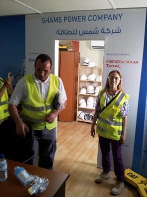 Maria Rebecca Balestra, Journey into Fragility, Abu Dhabi (Emirati Arabi Uniti), visita all'impianto di energia solare concentrata Shams