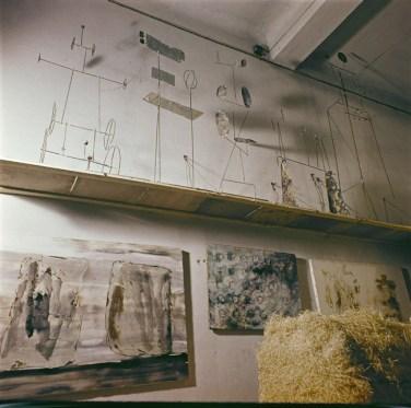 Atelier de Fausto Melotti, Milan Publié dans Domus n°400, mars 1963 Credit photo: Domus Archives © Editoriale Domus S.p.A. Rozzano (Italy)