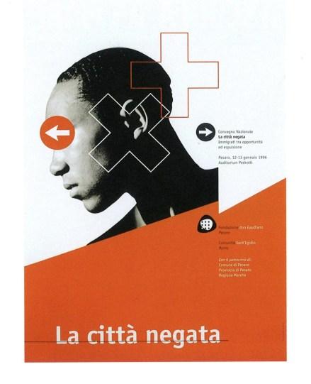 Massimo Dolcini, La città negata. Immigrati tra opportunità ed espulsione, 1996, offset