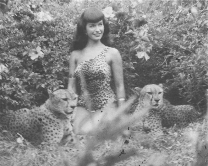 ©Bunny Yeager, 1954 Bettie Page, Courtesy of Michael Fornitz Collection