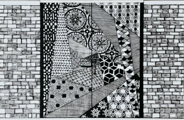 Elisa Rossi, Limine-Bushwick-NYC, 2015, pen on paper, 15x23 cm