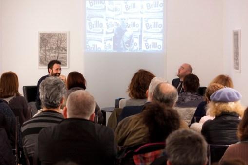 Brillo Boxes di Andy Warhol con Riccardo Falcinelli. Foto di Francesco Basileo