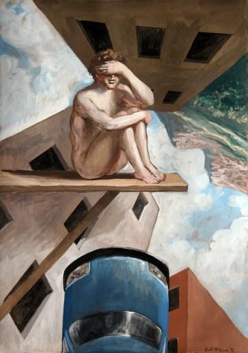 Stefano Di Stasio, Posizione, 2012, tempera su carta, 51x36 cm