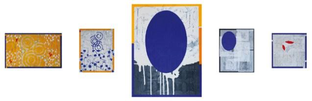 Roberto Floreani, Ricognizioni dello spirito, 2015, tecnica mista su tela