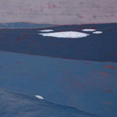William Santoleri, Snow II, 2015, tecnica mista su tela, cm. 150x150