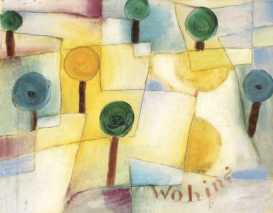 Paul Klee, WohinJunger Garten, 1920, olio su carta su cartone, Museo comunale Città di Locarno