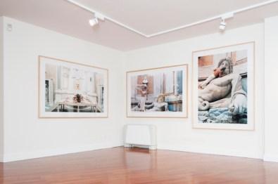 veduta della mostra di Zhang Huan, ATELIER LES COPAINS, Milano