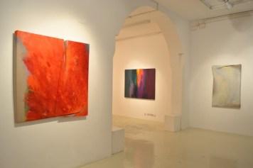 Astrazione fluida. Italo Bressan, Gottardo Ortelli, Tetsuro Shimizu, veduta dell'allestimento, Galleria Antonio Battaglia, Milano