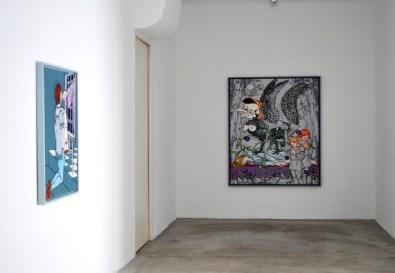Veduta della mostra Gabriele Arruzzo Apocalisse con figure, Galleria Giuseppe Pero, Milano