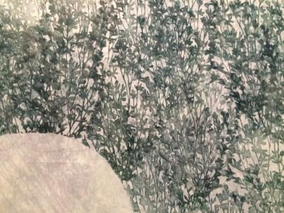 Asako Hishiki, Simbiosi armoniche #4, 2015, xilografia su tessuto (particolare)