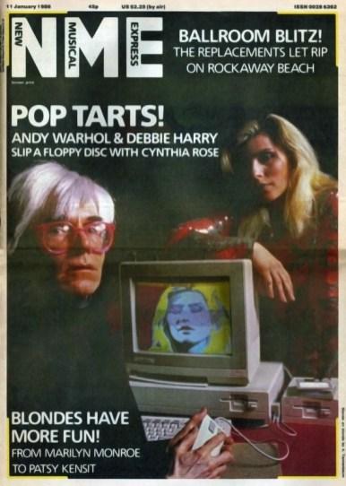 Copertina del NME Journal, 1986