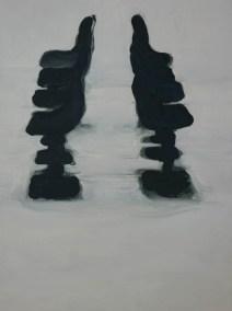 Rudy Cremonini, Le sedie, cm 60x80, on linen, 2015