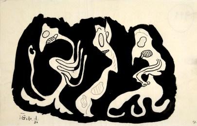 Gillo Dorfles, Senza titolo, 1930, china su carta, 22.7x14.2 cm