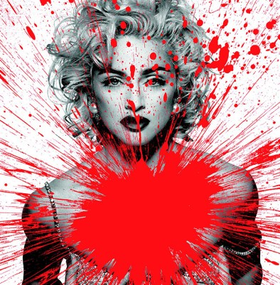Julian T, Impact Madonna, Stampa digitale su PVC, cm 80x60, 2015