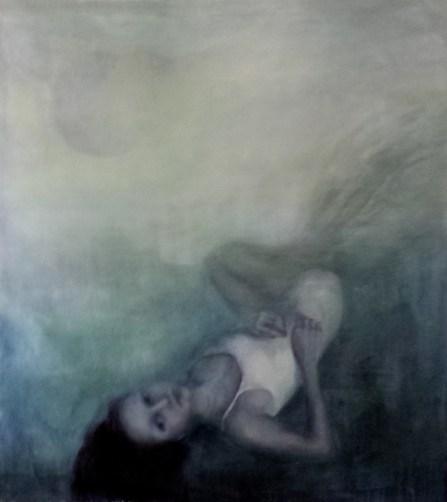 Ludmila Kazinkina, Senza titolo, 2015, olio su tela, 150x139 cm