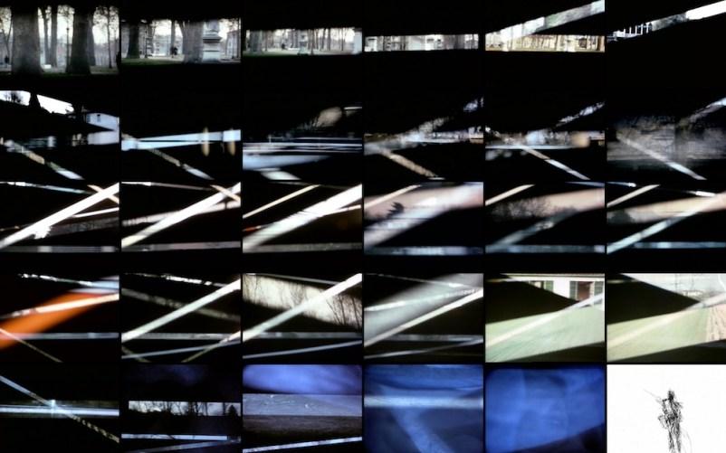 Michele Sambin, Film a strisce (La petite mort), 1976, still da video, 16 mm, colore, muto, 3' Proprietà dell'artista