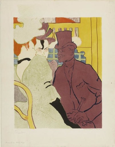 Henri de Toulouse-Lautrec, The Englishman at the Moulin Rouge, 1892, lithograph in six colours on laid paper, 62.4x48.4 cm, Galleria Nazionale, Budapest