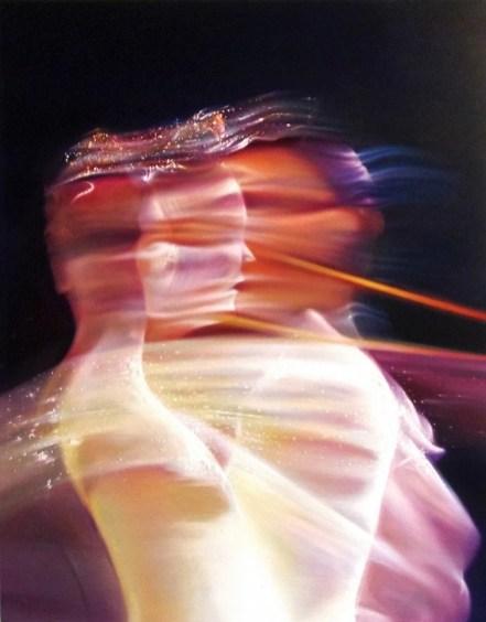 Antonio Sidibè, Senza sapere che ciò lei cerca, lei non c'è, 2014, olio su tela, 90x70 cm