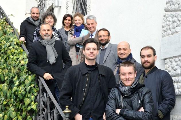 Il vincitore e i finalisti con la commissione Foto Roberto Bernardinatti - Archivio Università di Trento