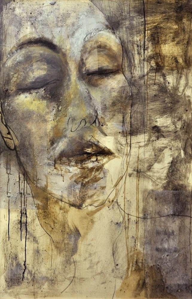 Mariana Gamiddo, Autoritratto, tecnica mista su cartone vegetale, 150x100 cm