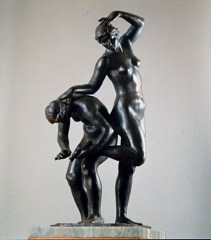 Saverio Gatto, La spina, 1928, bronzo, h cm 82