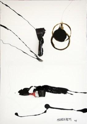 Antonio Meneghetti, Mistico, 2011, tecnica mista su tela, 100x70 cm