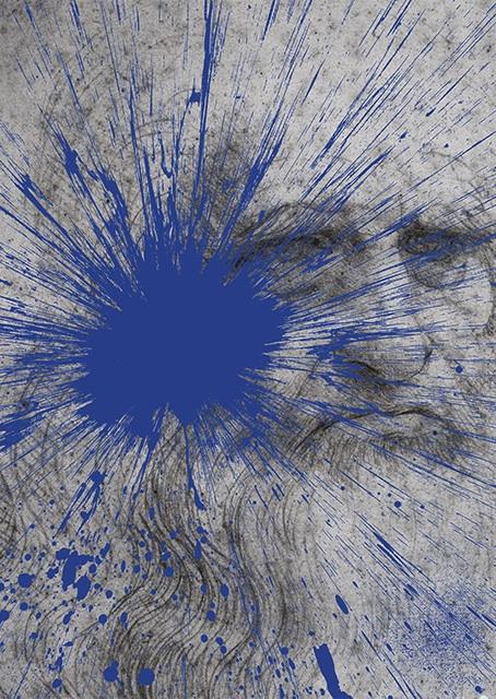 Julian T, Impact Leonardo Da Vinci, dalla serie Fame, 2015, stampa digitale su PVC, 80x60 cm
