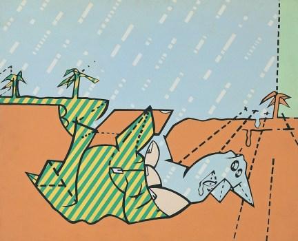 Valerio Adami, Il miraggio, 1965, acrilici su tela, 60x73 cm