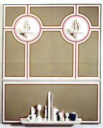 Lucio Del Pezzo, Nello stile italiano, 1965, tecnica mista su legno, 220x160x45 cm