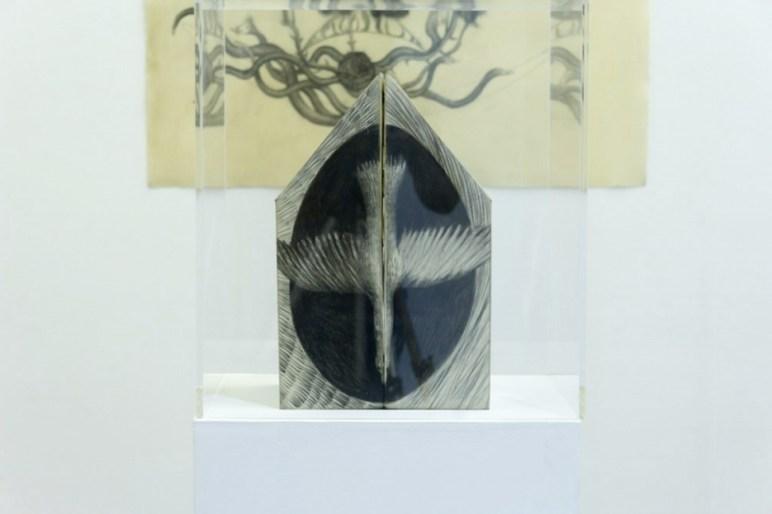 Sandra Vasquez de la Horra, El Canto del Desierto, 2016, installation view, Prometeogallery, Milano