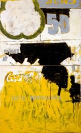 Mario Schifano, Tutta propaganda, 1963, smalto su cartone su tela, 198x118 cm