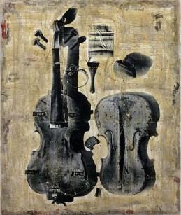 Hyena, omaggio a Stradivari, 2010, su lino, 120 x 100