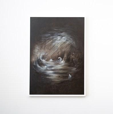 Thomas Scalco, Monochrono, Tecnica mista su tela, 100x70 cm, 2015