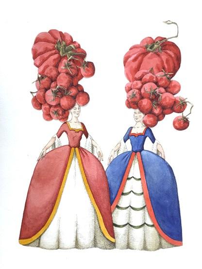 Vanni Cuoghi, Madame Pomodorè, 2016, acquerello e china su carta,cm 50x40