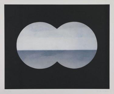 Markus Raetz, Binocular view, 2001, eliografia, 508x632 mm © 2016 Markus Raetz, Prolitteris, Zürich