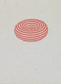 Markus Raetz, Torus, 1968, timbro a umido in caucciù, 23x35 mm © 2016 Markus Raetz, Prolitteris, Zürich