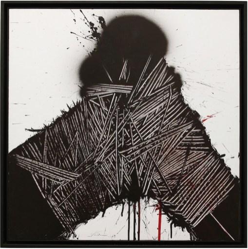 Emilio Scanavino, Eccesso, 1969, olio su tavola, 80x80 cm