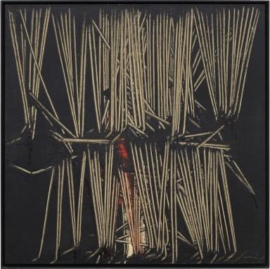 Emilio Scanavino, Tramatura, 1975, olio su tela, 60x60 cm