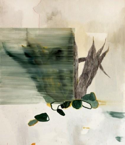 Federica Giulianini, Viaggio monocarpico, 2015, tecnica mista su tavola di pioppo bianco, cm. 100x84