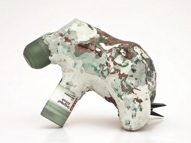 Francesca Ferreri, Eterocronie, 2013-15, serie in progress, oggetti, gesso, pigmenti