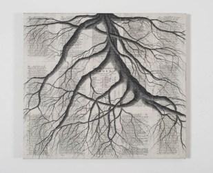 Tindar, Piccola Radice Quadrata su Odissea (testo in greco a fronte latino), met+á 1700, 2016, 55x60 cm. Courtesy ProjectB, Milano