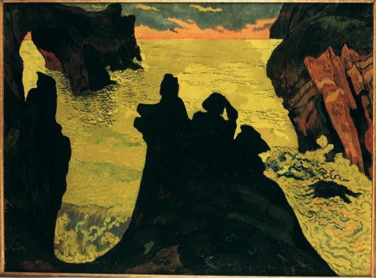 Georges Lacombe, Il mare giallo, Camaret, 1892 circa, olio su tela, 60.7x81.5 cm, Brest, Musée des Beaux-Arts © Musee des Beaux-Arts de Brest metropole